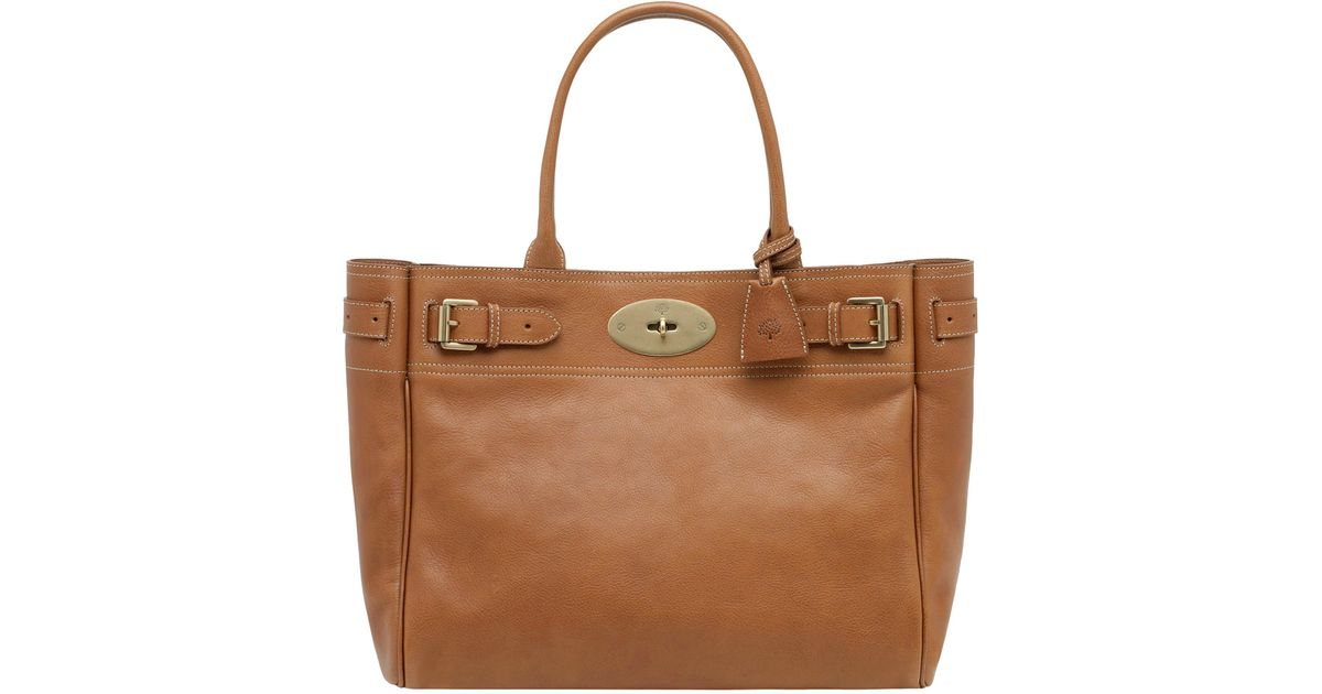 Mulberry - Brown Bayswater Tote Handbag Tan - Lyst b971ab975ea9b