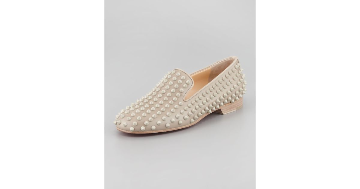christian louboutin knockoff - Christian louboutin Rolling Spikes Red Sole Smoking Slipper in ...