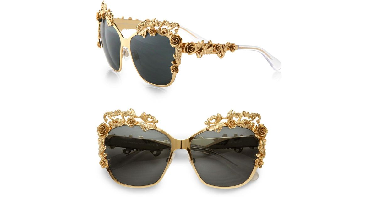 Dolce And Gabbana Sunglasses Foldable  dolce gabbana fashion show embellished catseye sunglasses in