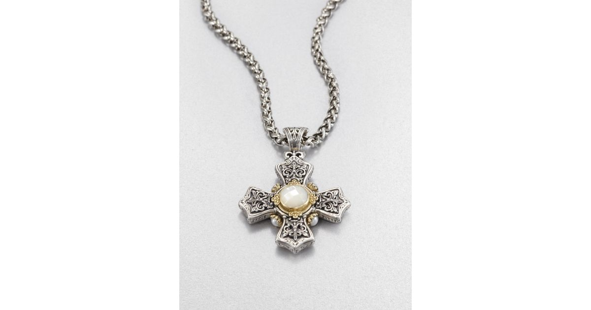 Konstantino Hestia Mother-of-Pearl Cross Pendant fhOJ9t