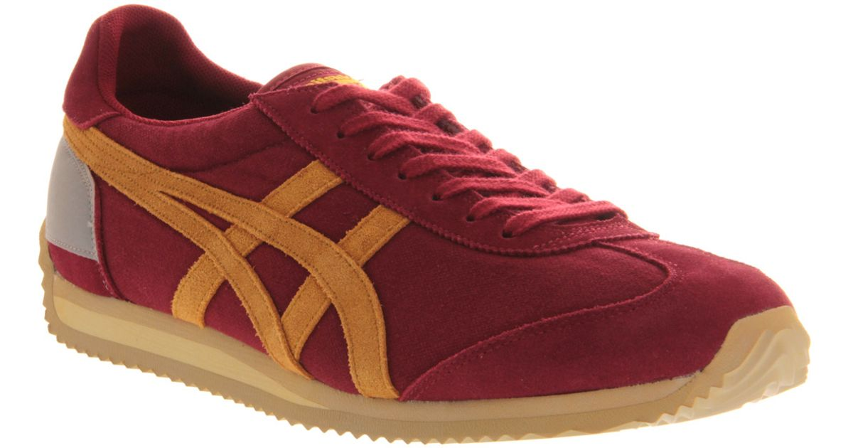 b13e4c5db535 Lyst - Onitsuka Tiger California 78 Su Vin Burgundy Yellow in Red for Men