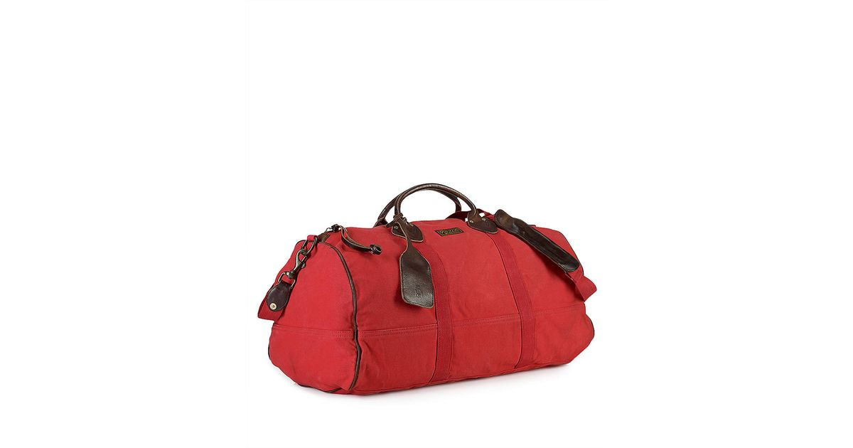 ... ireland polo ralph lauren canvas bedford duffle bag in red for men lyst  48940 2f381 8882c28fc81e9
