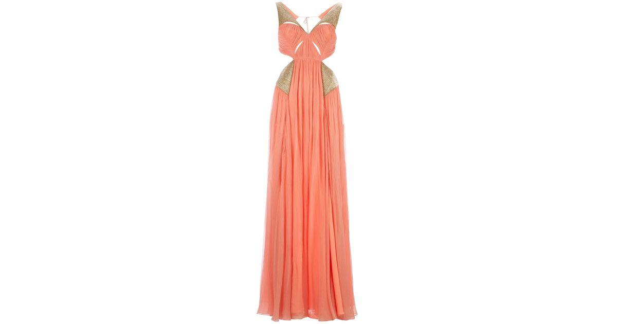 ecc3cdcf23 Matthew Williamson Sleeveless Maxi Dress in Metallic - Lyst