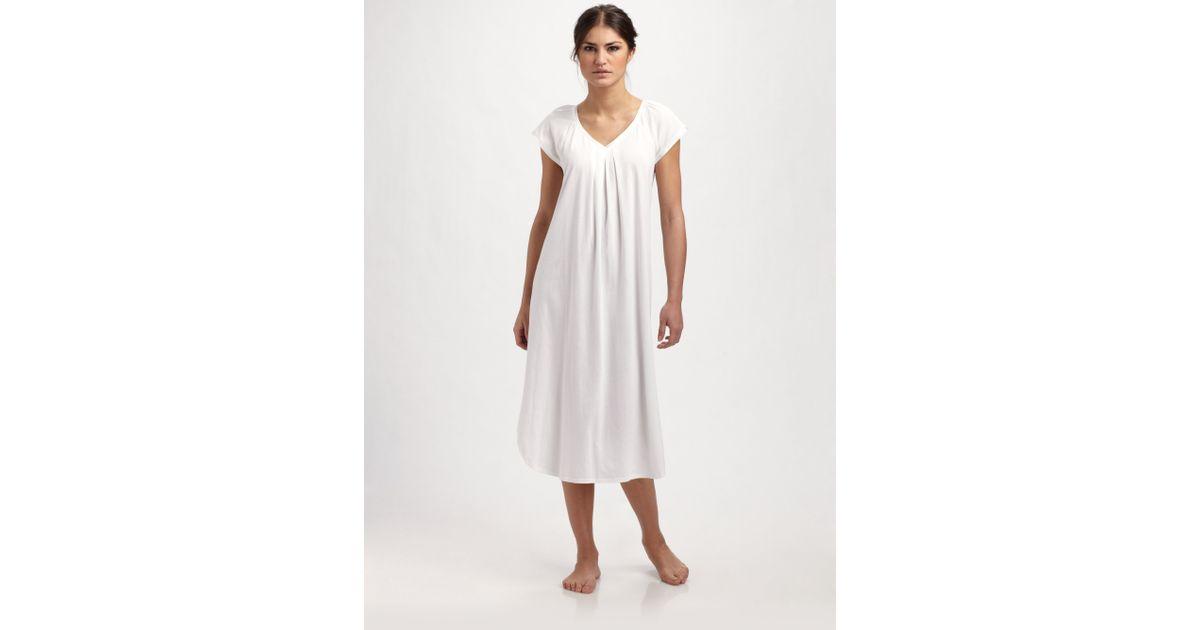 b009b8b98a Lyst - Cottonista Pima Cotton Nightgown in White