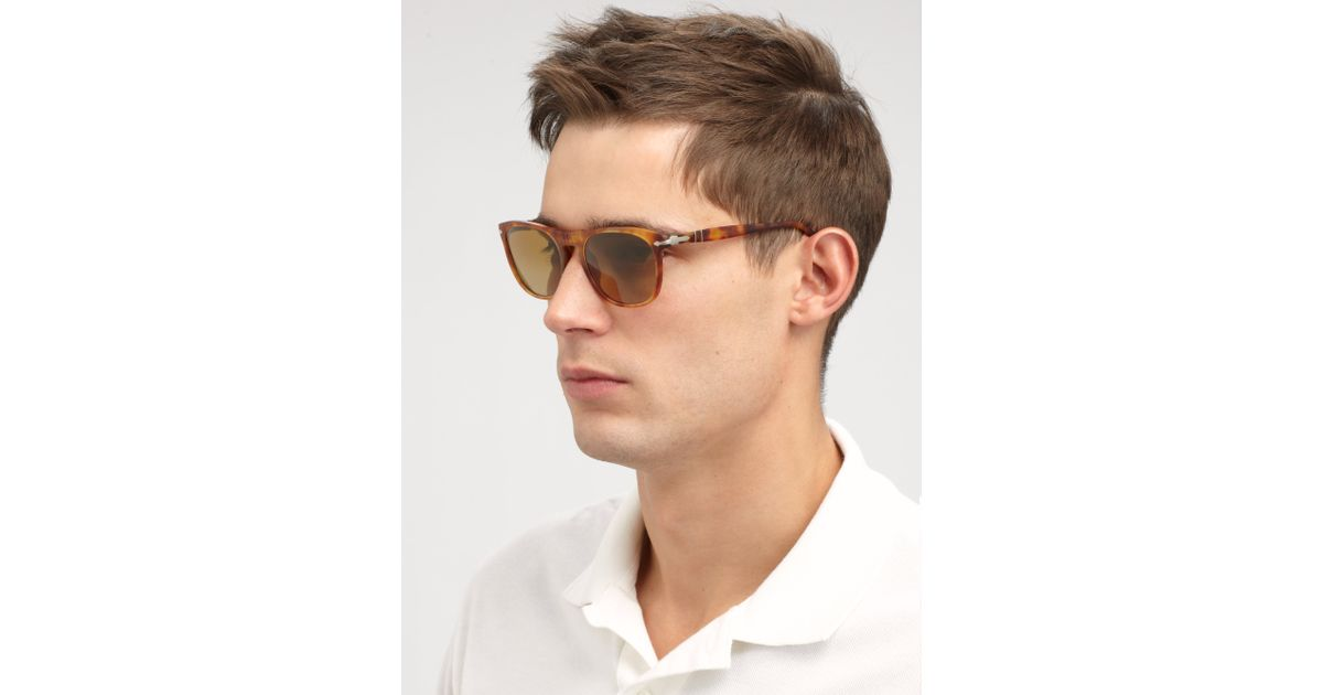 bf218088e8bbe Persol Sunglasses Vintage Flattop In Keyhole Lyst Brown P5d0qw4xx
