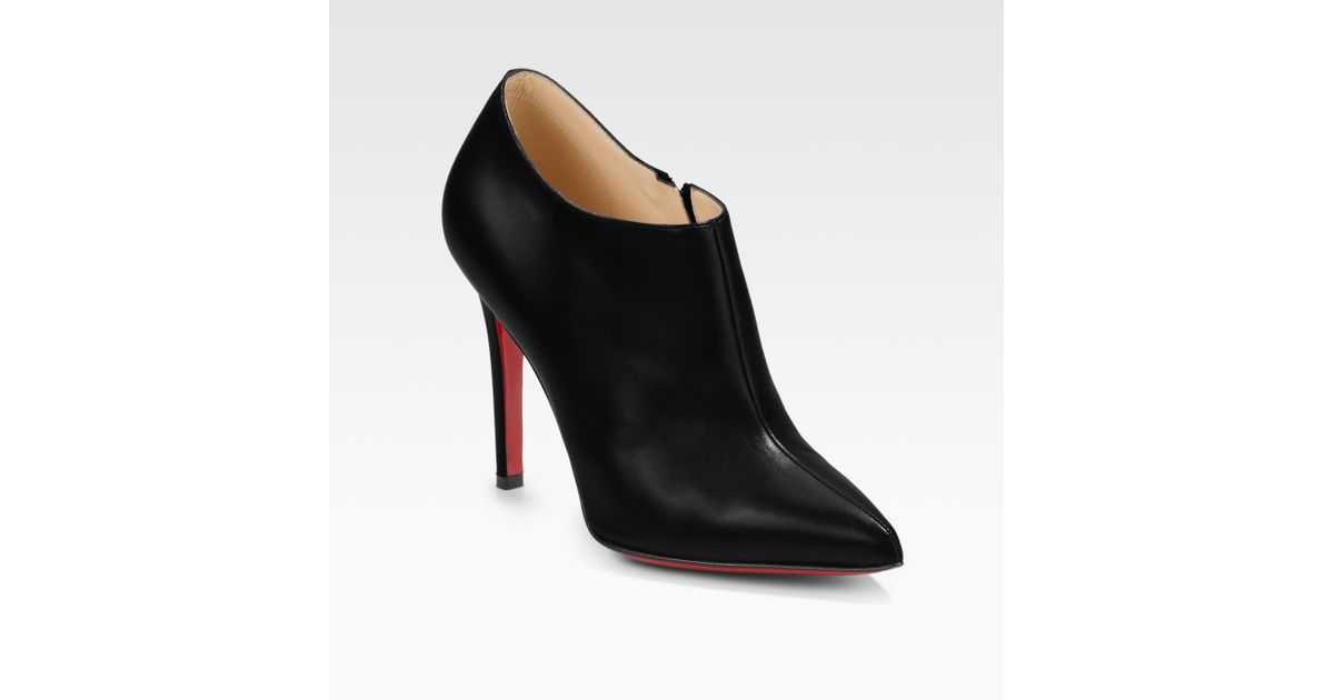 ef398424c12 Lyst - Christian Louboutin Dahlia Pointtoe Ankle Boots in Black