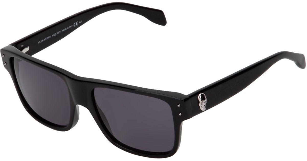 609fadc798 Alexander McQueen Wayfarer Sunglasses in Black - Lyst