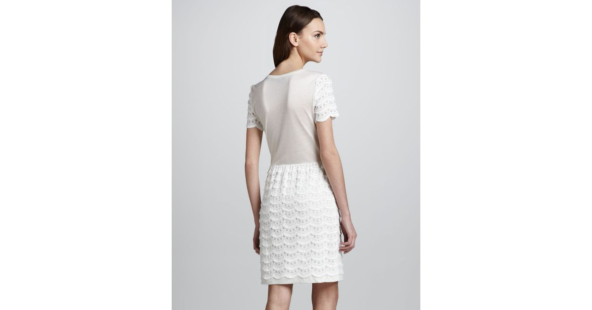 Marc by marc jacobs Lace Tiered Dress in White - Lyst