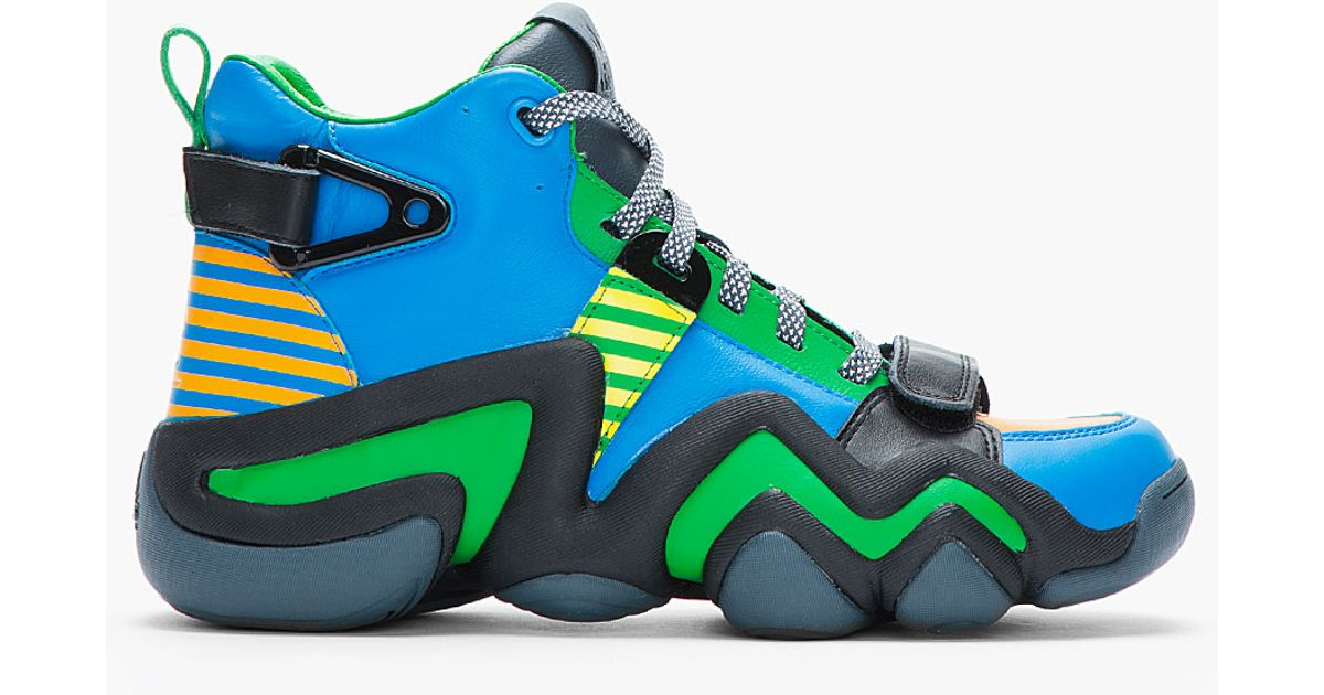 Lyst Opening Ceremony Blue And Green Leather Crazy 8 Tennis Shoes