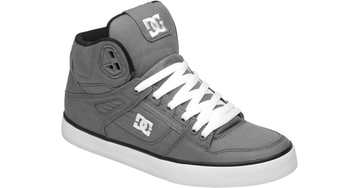 57f5fedcff30 Lyst - DC Shoes Spartan Hi Wc Tx Sneakers in Gray for Men