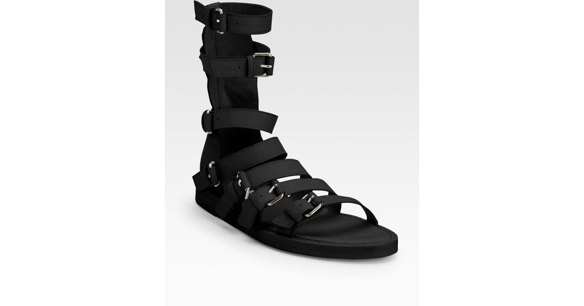 gladiator sandals - Black Ann Demeulemeester 8E5dCe