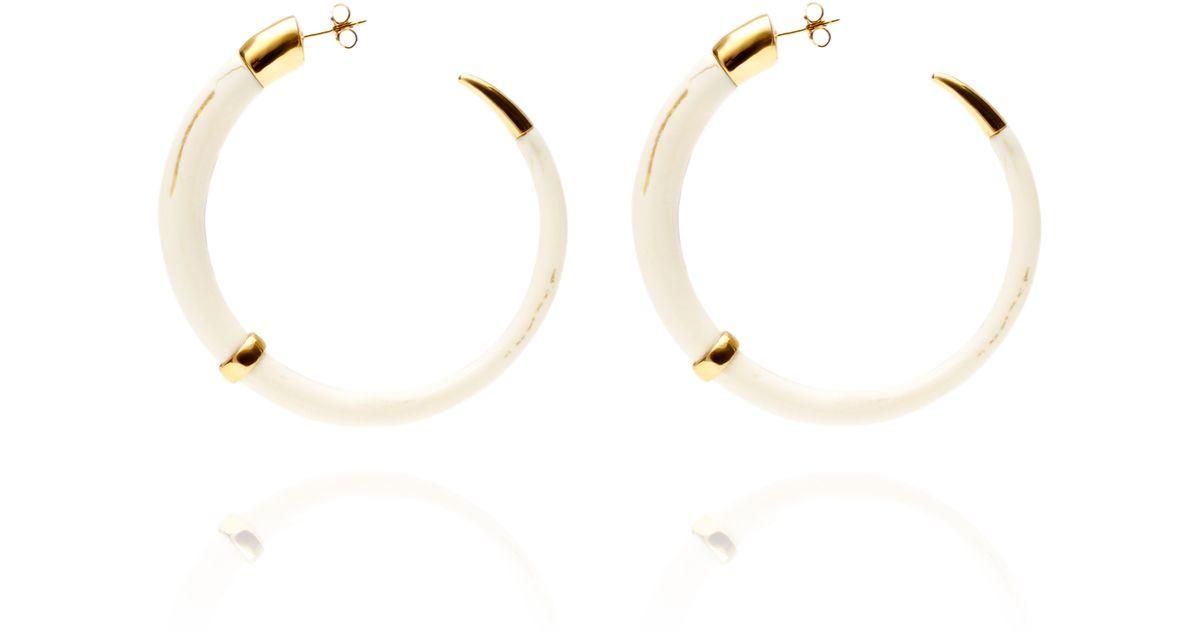 Aurélie Bidermann Caftan Moon earrings - White naBuxRV