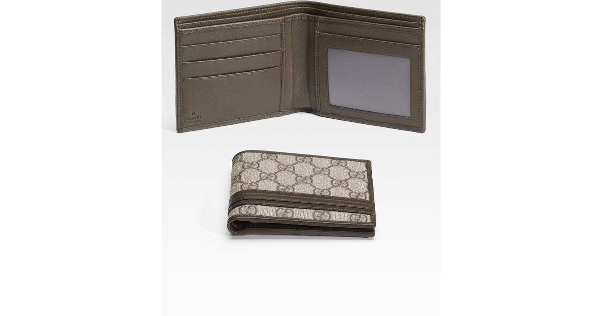 853560b6540778 Lyst Gucci Bifold Wallet With Id Window In Natural For Men