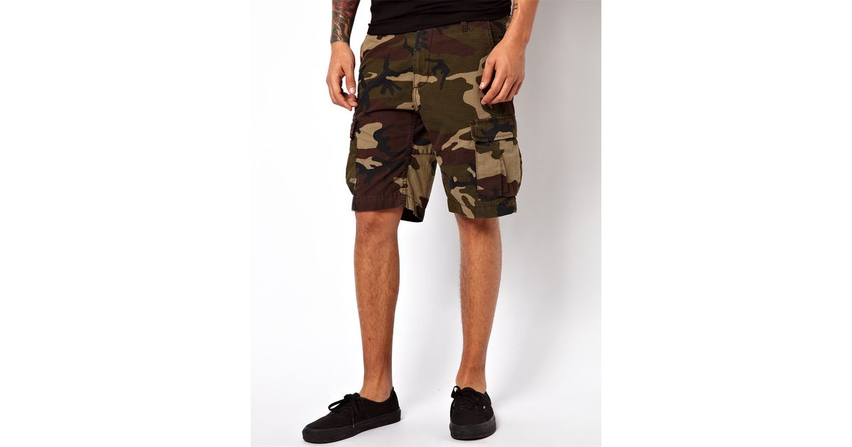 9be516c103 Carhartt Cargo Shorts Slim Aviation Camo Ripstop in Natural for Men - Lyst