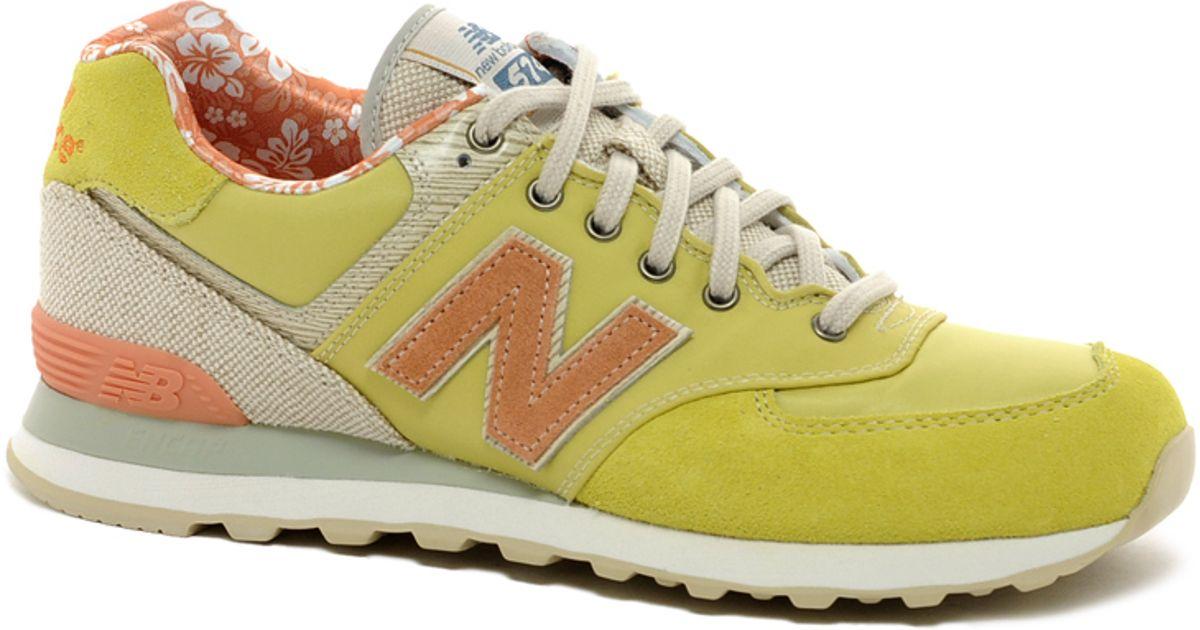 new balance yellow 574