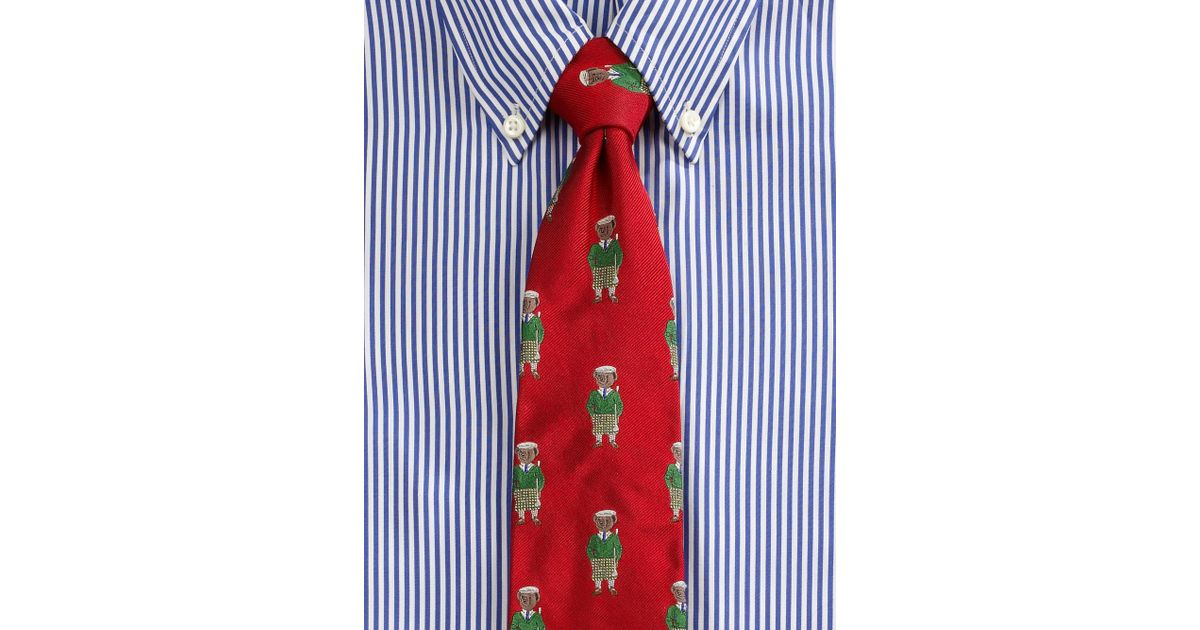 d77019d11a76 Polo Ralph Lauren Polo Bear Golfer Tie in Red for Men - Lyst