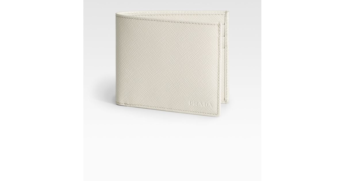 prada hobo bag price - Prada Saffiano Leather Bifold Wallet in White | Lyst