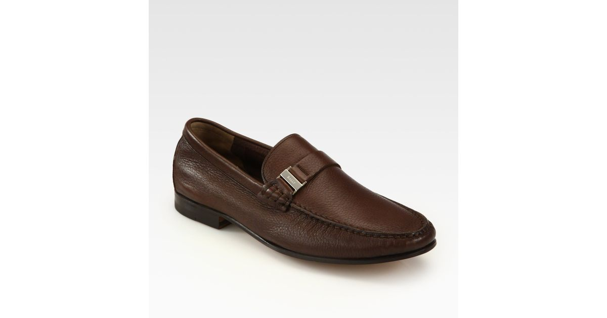5c77fd639f2 Lyst - Bally Leather Loafers in Brown for Men