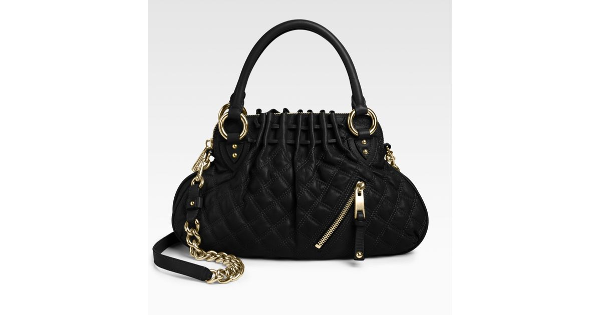 d227501a53d Marc Jacobs Quilting Little Cecilia Bag in Black - Lyst