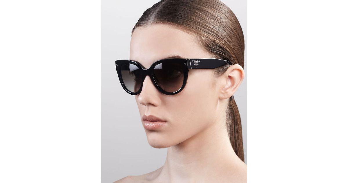 c096f38ee82b cheap lyst prada heritage cateye sunglasses in black ba359 03c25