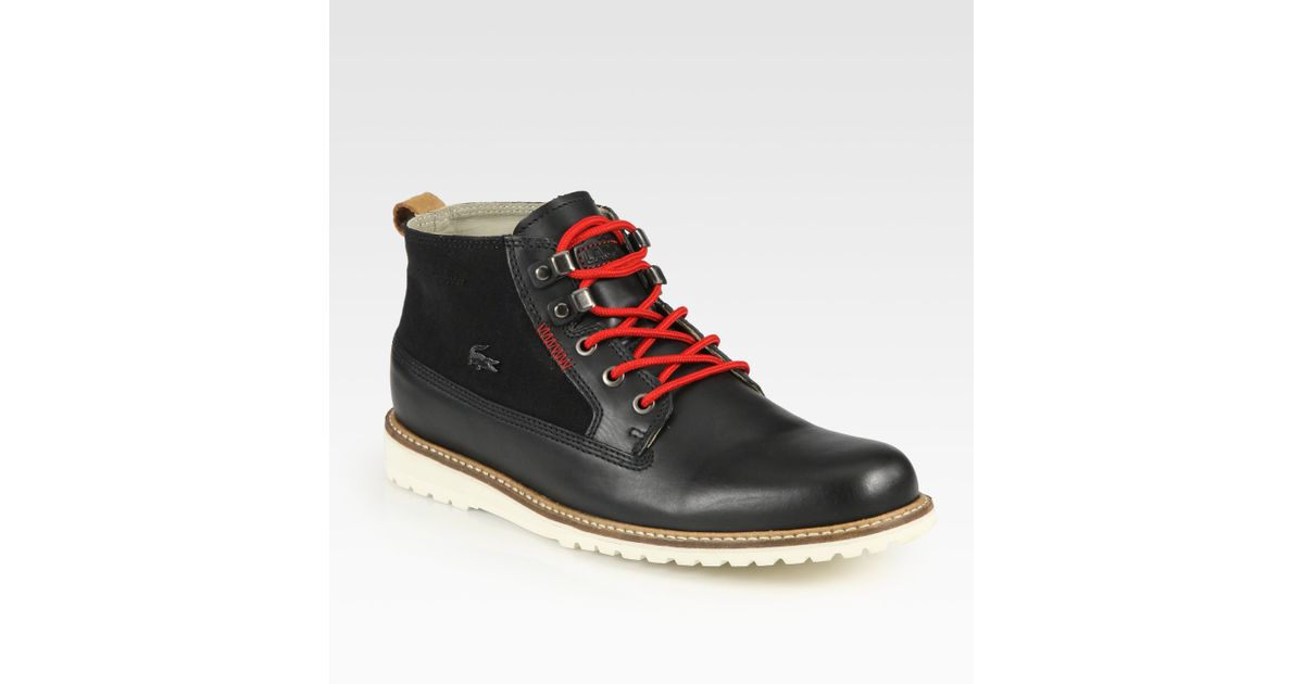 311aa93117a89 Lyst - Lacoste Delevan Laceup Boots in Black for Men