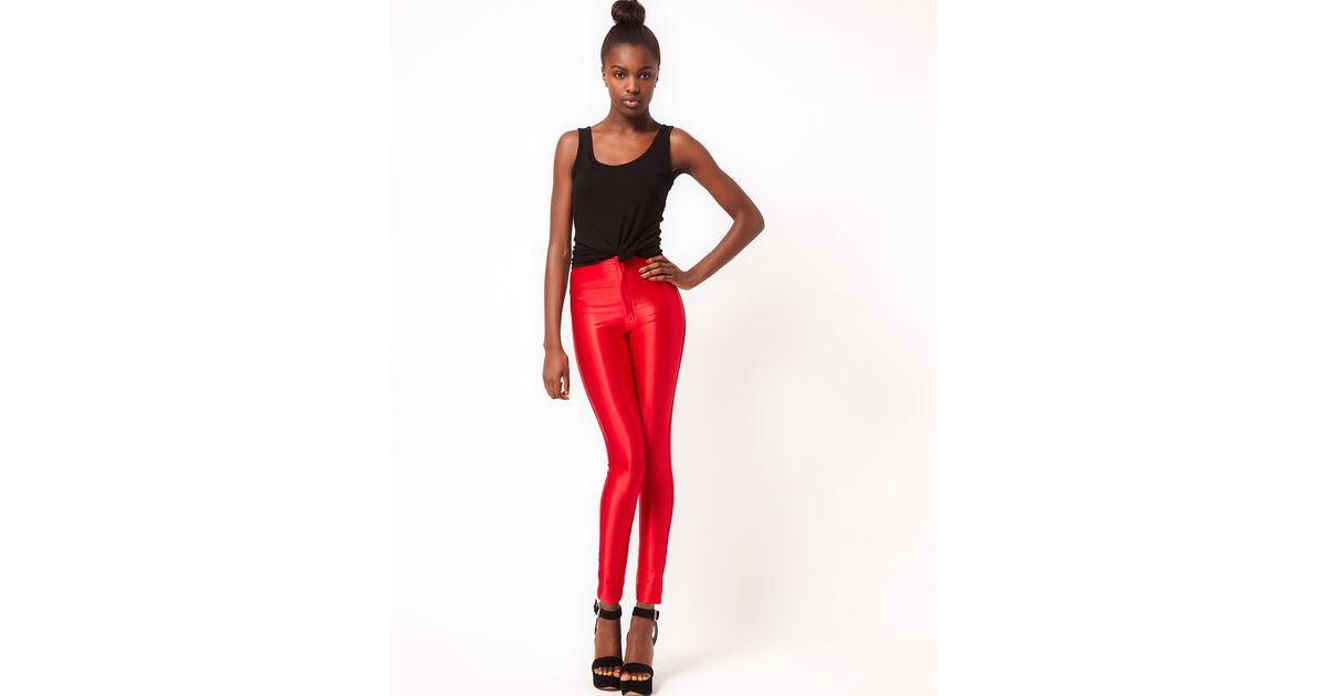 39a6d446259c1a American Apparel American Apparel Disco Pant in Red - Lyst