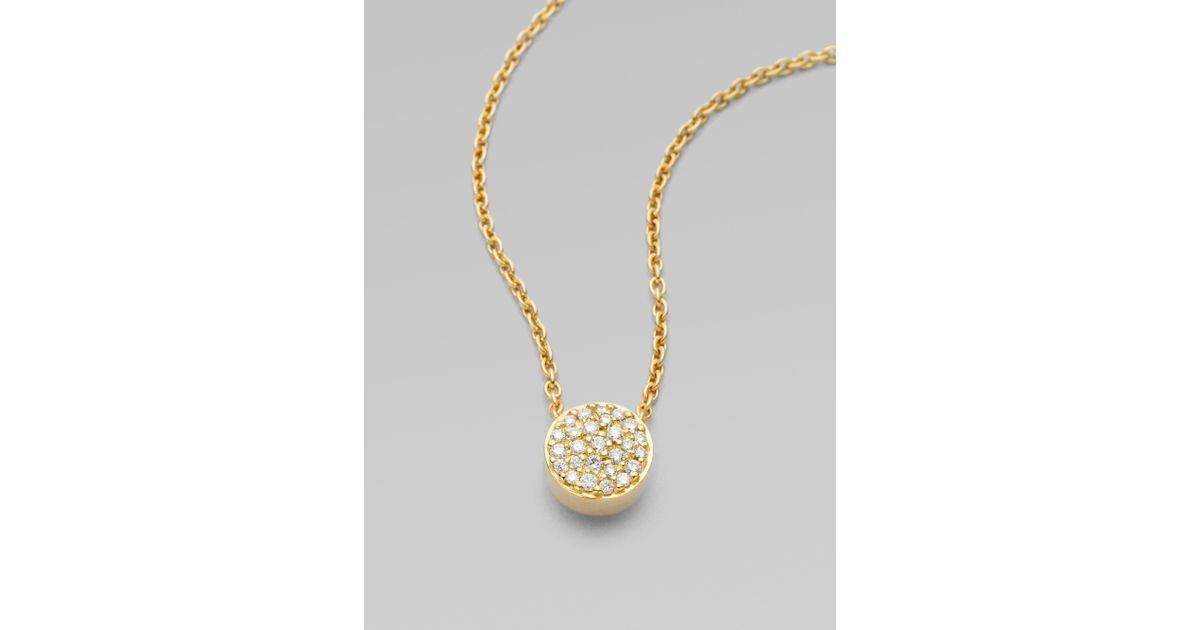 Lyst georg jensen 18k yellow gold pav diamond pendant necklace in lyst georg jensen 18k yellow gold pav diamond pendant necklace in metallic aloadofball Images