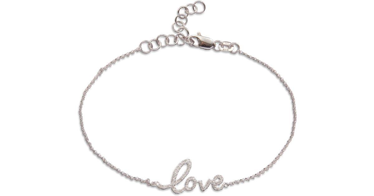 da9f3ffd87 KC Designs Diamond Love Bracelet in Metallic - Lyst