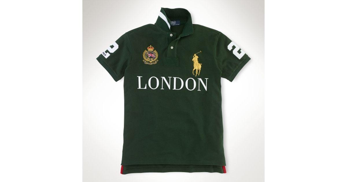 76f724acb468b ... sale lyst polo ralph lauren custom fit big pony city polo in black for  men 2ec29
