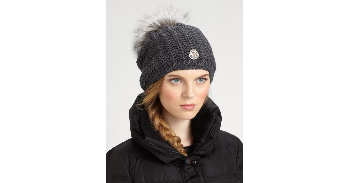 Lyst - Moncler Slouchy Hat in Gray 93be220c21af