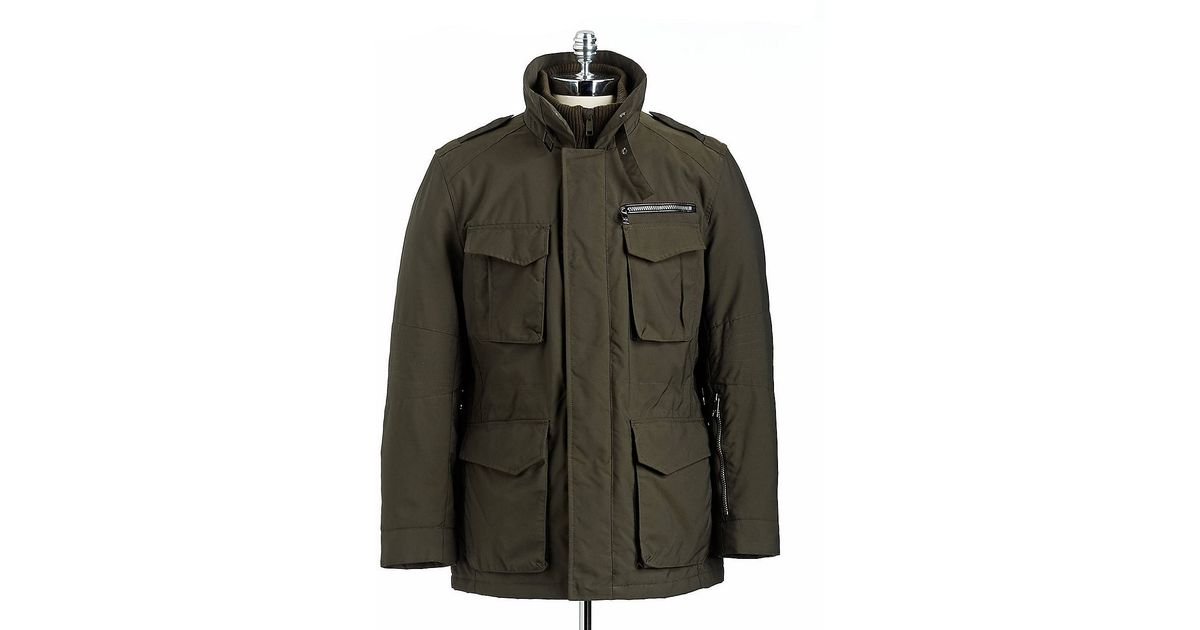e5380d0dcc4 Lyst - Marc New York Melrose Zip Front Military Jacket in Green for Men