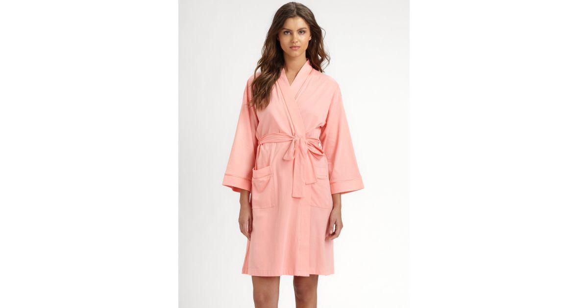 cf1b8425aa Lyst - Cottonista Pima Cotton Jersey Robe in Pink