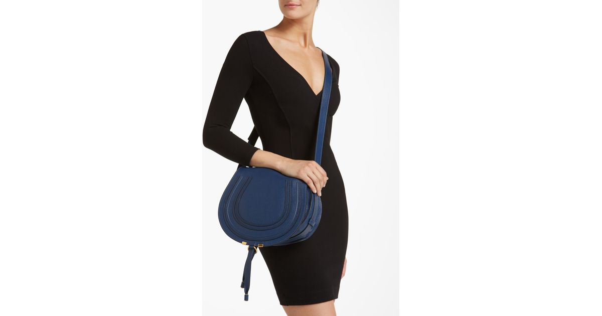 blue chloe bag - Chlo�� Marcie Leather Crossbody Bag in Blue (end of color list ...