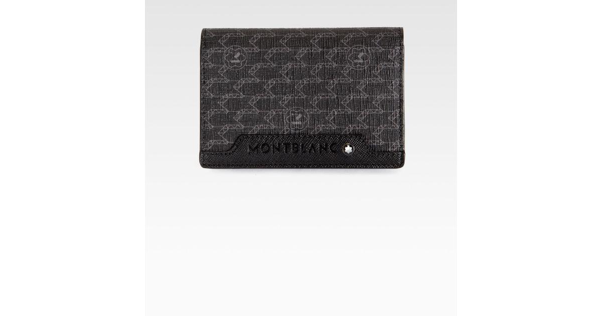 Lyst - Montblanc Nightlife Business Card Holder in Black for Men