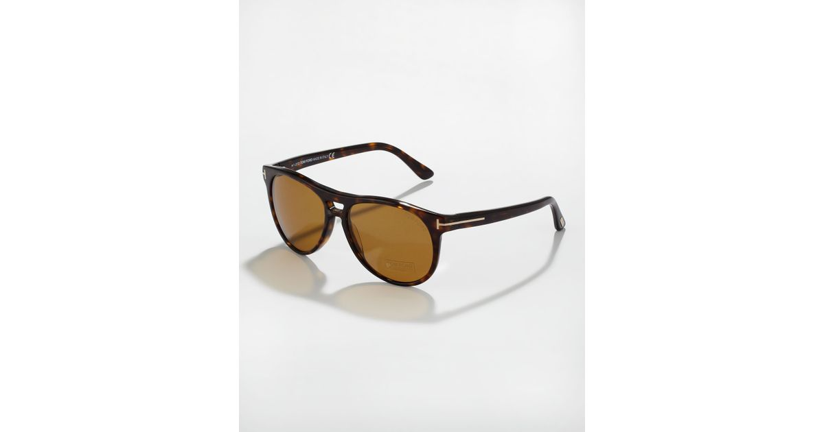 23a891c1dfdb Lyst - Tom Ford Callum Polarized Acetate Square Sunglasses in Brown for Men