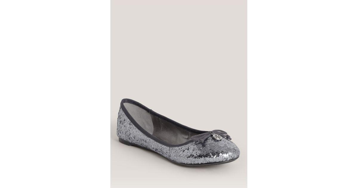 7d3964d09 Lyst - Tory Burch Chelsea Glitter Ballerina Flats in Metallic