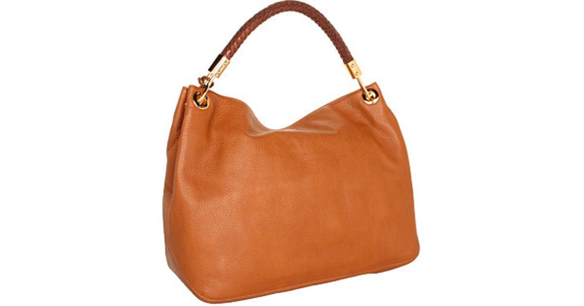 bbe7f64fe42e Lyst - Michael Kors Skorpios Large Shoulder Bag in Brown