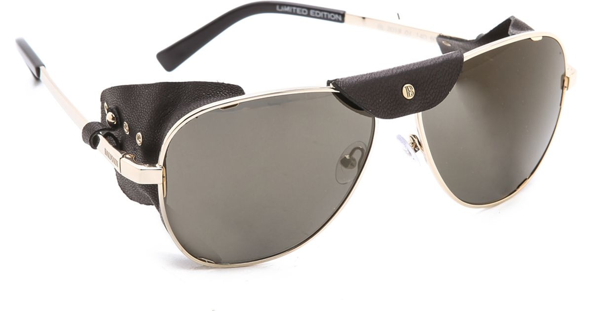 16ba85410bc262 Balmain Studio Covered Side Sunglasses in Metallic - Lyst