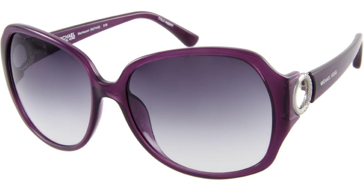 584cb9d9cc Lyst - Michael Kors Manhasset Sunglasses in Purple
