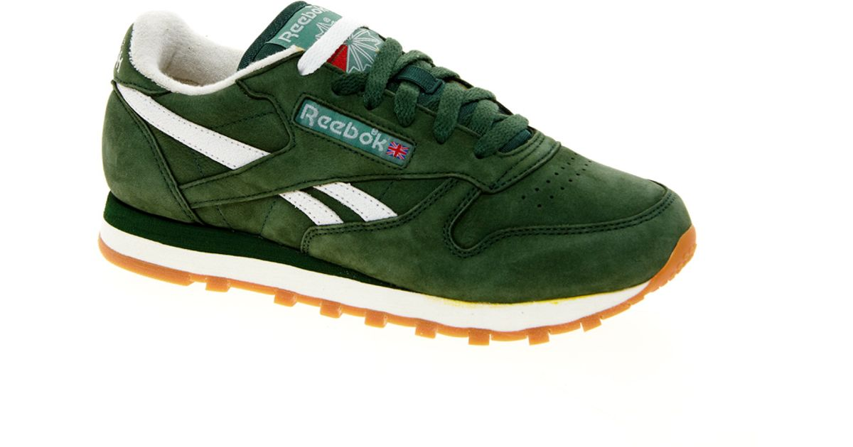 Lyst - Reebok Classic Vintage Green Trainers in Green for Men 60ee89853c