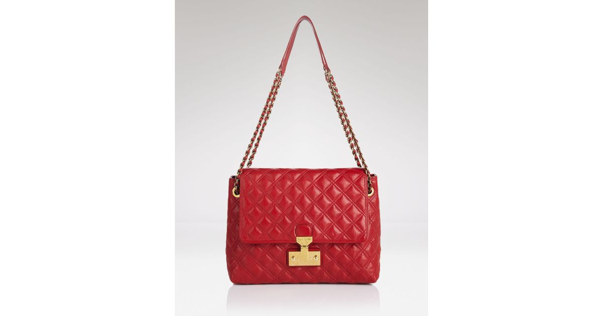4b1ec506774b Lyst - Marc Jacobs Shoulder Bag Quilted Baroque Xl Single in Red