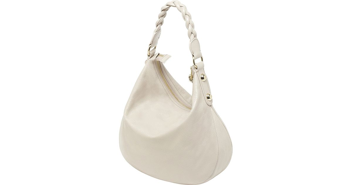 b7c58df73a2 Mulberry Daria Medium Spongy Leather Hobo in Natural - Lyst