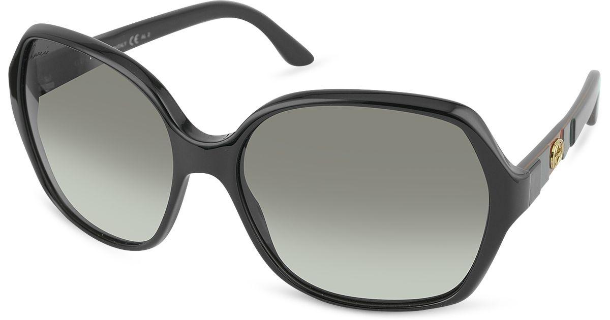 Gucci Large Square Frame Sunglasses in Black (black ...