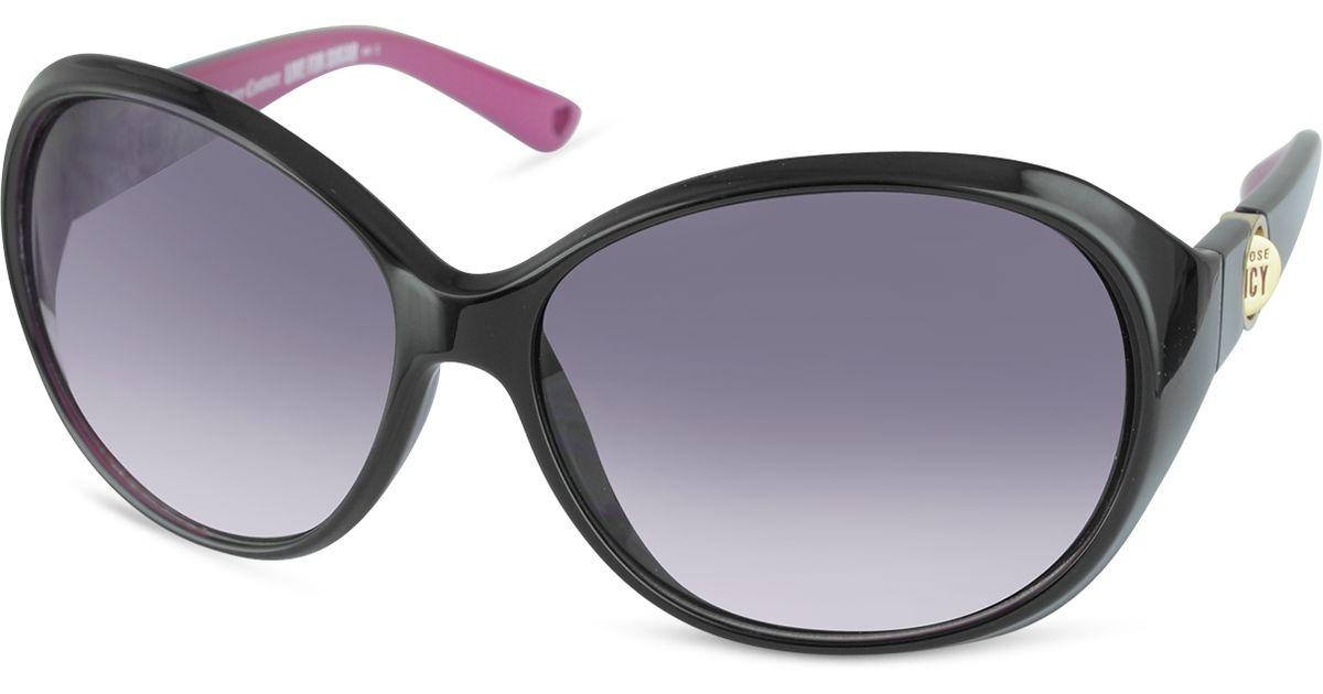 Juicy couture Quaint - Round Sunglasses in Black   Lyst