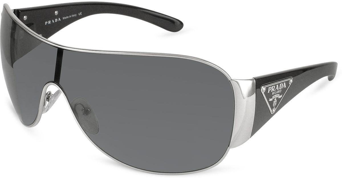 a1cd8b91b3a ... get prada trianglecrest shield sunglasses for men lyst 5cf42 abc03