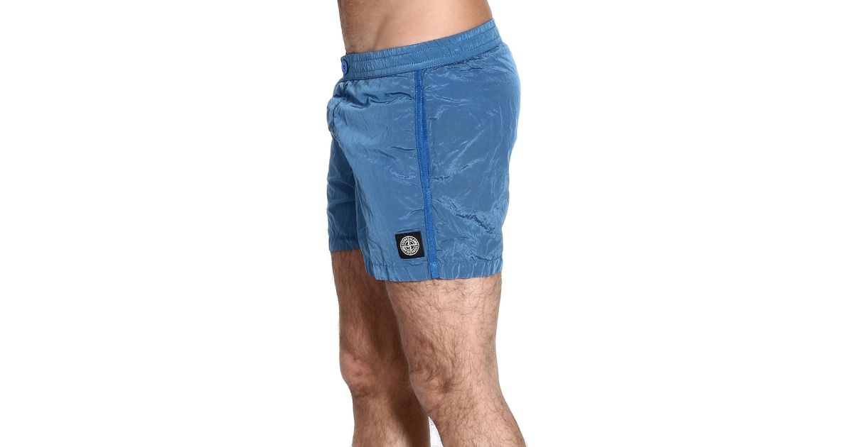 32b643de34 Stone Island Nylon Metal Boxer with Button in Blue for Men - Lyst