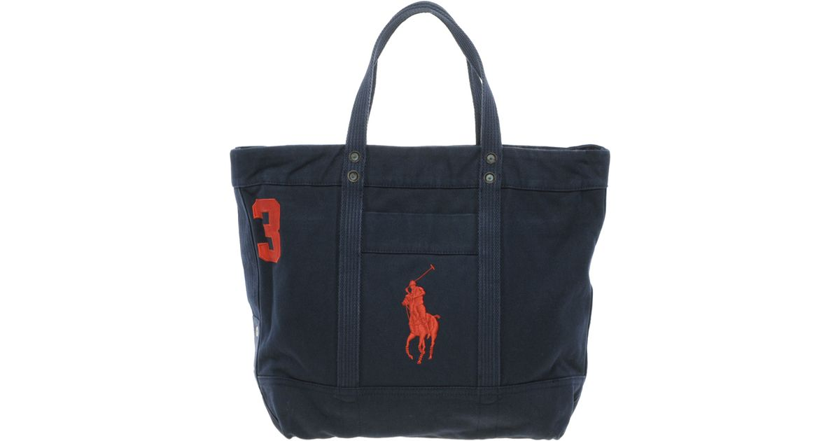 Ralph Lauren Tote Laukku : Ralph lauren tote bag in blue lyst