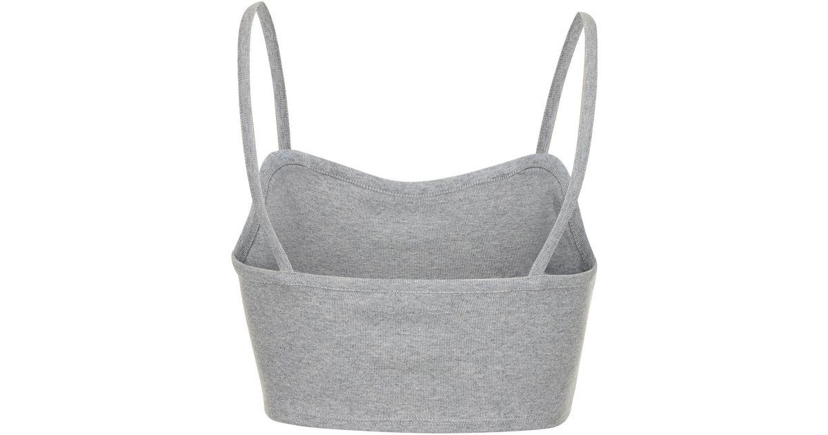 b41886e34c762f Lyst - TOPSHOP Petite Bralet Crop Top in Gray