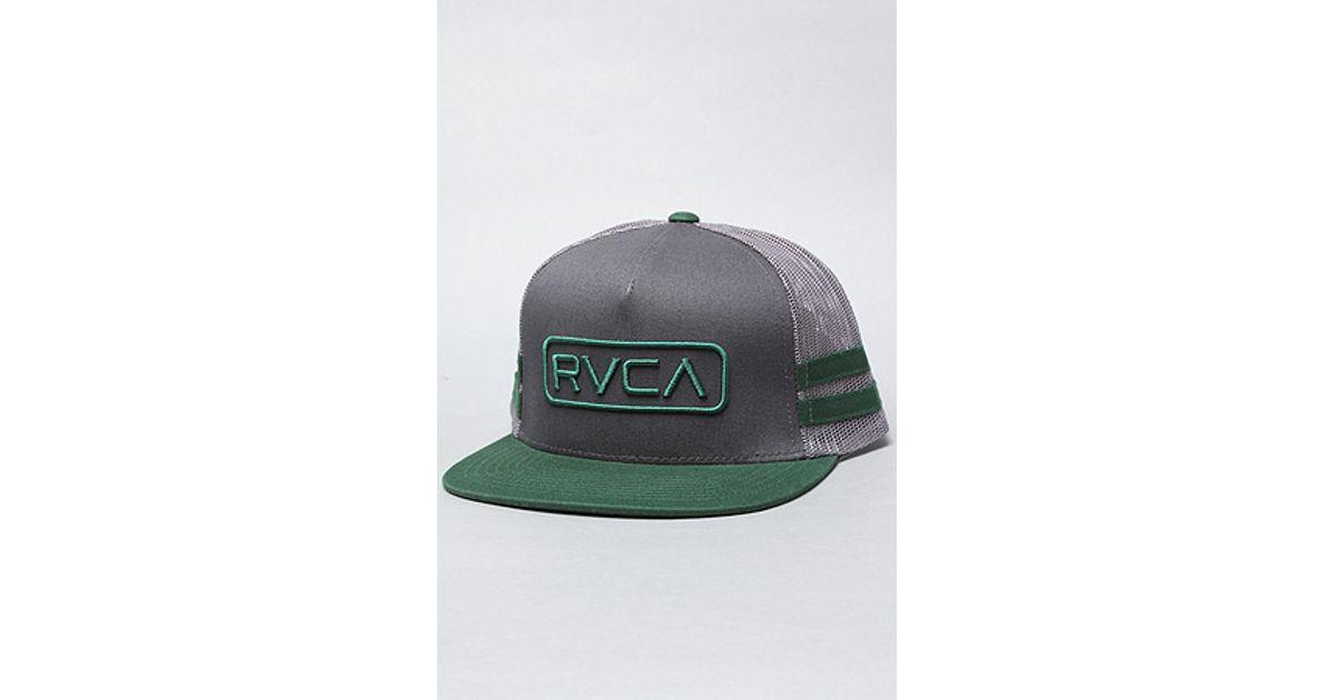 size 40 64e9e 6bff1 ... get lyst rvca the movement trucker hat in green for men 0c4c0 4c06a