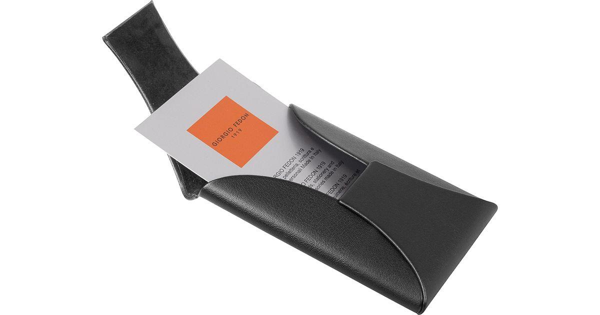 Giorgio fedon dynamic business card holder in orange lyst for Orange business card holder
